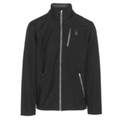 Spyder Fresh Air Mens Soft Shell Jacket, Black-Polar, medium
