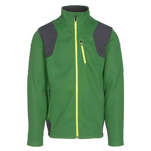 Spyder Legend 3L Mid WT Mens Sweater, Blade-Polar-Bryte Yellow, 600