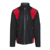 Spyder Legend 3L Mid WT Mens Sweater, Black-Red-Polar, medium