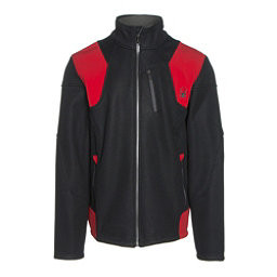 Spyder Legend 3L Mid WT Mens Sweater, Black-Red-Polar, 256