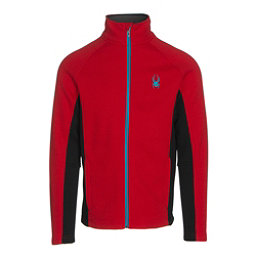 Spyder Constant Full Zip Tailored Mens Sweater (Previous Season), Red-Black-Electric Blue, 256