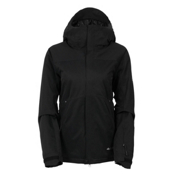 686 GLCR Aura Womens Insulated Snowboard Jacket, Black Diamond Dobby, medium