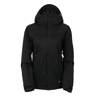 686 GLCR Aura Womens Insulated Snowboard Jacket, Black Diamond Dobby, viewer