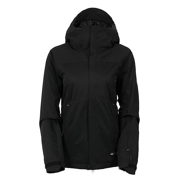 686 GLCR Aura Womens Insulated Snowboard Jacket, Black Diamond Dobby, 600