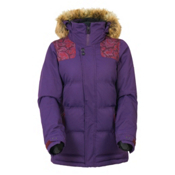 686 Authentic Runway with Faux Fur Womens Insulated Snowboard Jacket, Wine Paisley Herringbone, medium