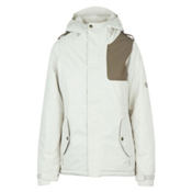 686 4Eva-After Womens Insulated Snowboard Jacket, Ivory Diamond Dobby, medium