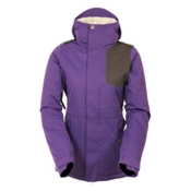 686 4Eva-After Womens Insulated Snowboard Jacket, Violet Diamond Dobby, medium