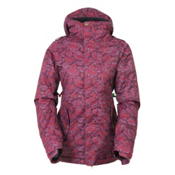 686 4Eva-After Womens Insulated Snowboard Jacket, Wine Paisley Herringbone, medium