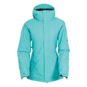 686 Authentic Paradise Womens Insulated Snowboard Jacket, Tiffany Ribbons, medium