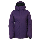 686 Authentic Festival Womens Insulated Snowboard Jacket, Violet Diamond Dobby, medium