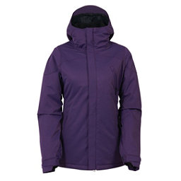 686 Authentic Festival Womens Insulated Snowboard Jacket, Violet Diamond Dobby, 256