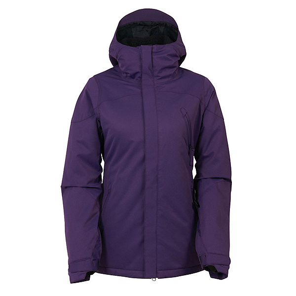 686 Authentic Festival Womens Insulated Snowboard Jacket, Violet Diamond Dobby, 600