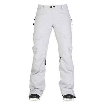 686 GLCR Geode Thermagraph Womens Snowboard Pants, Light Grey Diamond Dobby, viewer