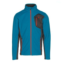 Spyder Bandit Full Zip Mens Jacket, Electric Blue-Polar-Rage, 256
