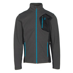 Spyder Bandit Full Zip Mens Jacket, Polar-Black-Electric Blue, 256