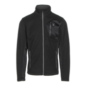 Spyder Bandit Full Zip Mens Jacket, Black-Polar, medium