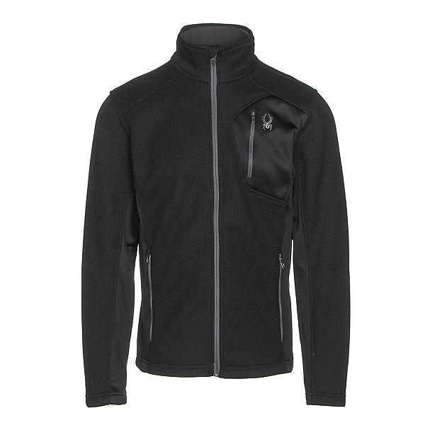 Spyder Bandit Full Zip Mens Jacket, Black-Polar, 600