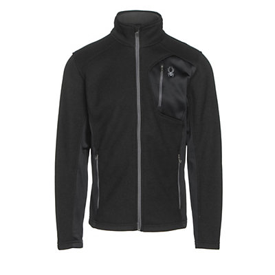 Spyder Bandit Full Zip Mens Jacket, Black-Polar, viewer