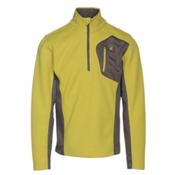 Spyder Bandit Half Zip Mens Sweater, Sulfur-Polar, medium
