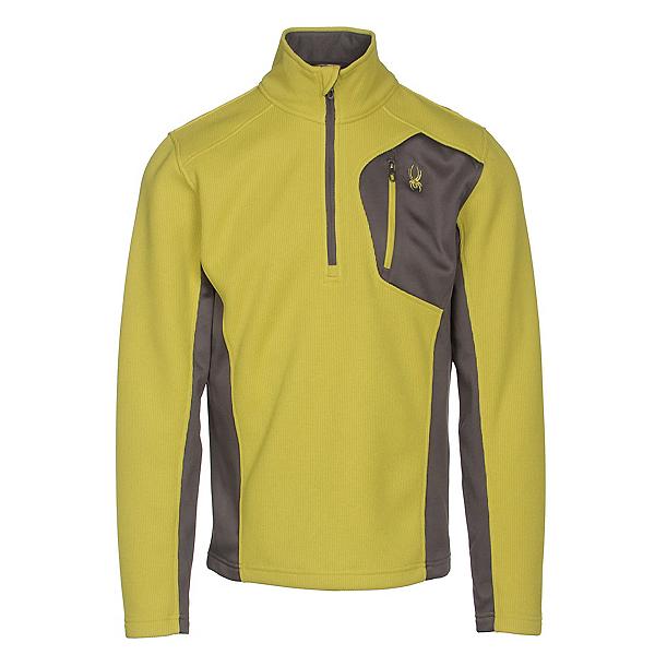 Spyder Bandit Half Zip Mens Sweater, Sulfur-Polar, 600