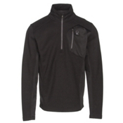 Spyder Bandit Half Zip Mens Sweater, Black-Polar, medium