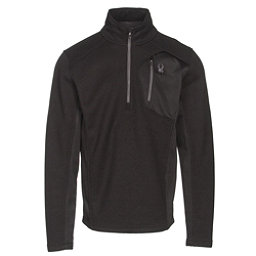 Spyder Bandit Half Zip Mens Sweater, Black-Polar, 256