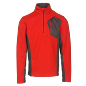 Spyder Bandit Half Zip Mens Sweater, Rage-Polar-Red, medium