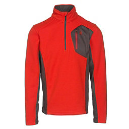 Spyder Bandit Half Zip Mens Sweater, Rage-Polar-Red, 256