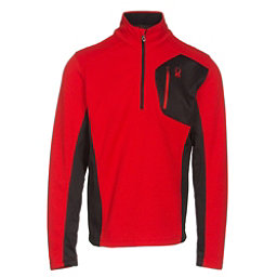 Spyder Bandit Half Zip Mens Sweater, Red-Black, 256