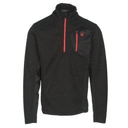 Spyder Bandit Half Zip Mens Sweater, Black-Red, 256