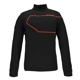 Spyder Commander Therma Stretch Mens Mid Layer, Black-Red, 256