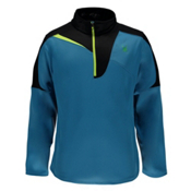 Spyder Charger Therma Stretch Mens Mid Layer, Electric Blue-Black-Bryte Yellow, medium