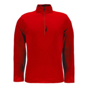 Spyder Buckhorn T-Neck Mens Mid Layer, Red-Black, medium