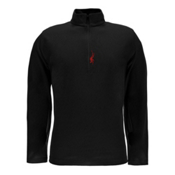 Spyder Buckhorn T-Neck Mens Mid Layer, Black-Red, medium