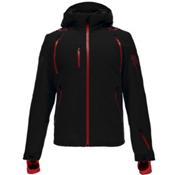 Spyder Pinnacle Mens Insulated Ski Jacket, Black-Red-Polar, medium