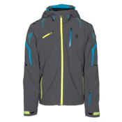 Spyder Monterosa Mens Insulated Ski Jacket, Polar-Electric Blue-Bryte Yellow, medium