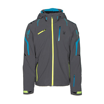 Spyder Monterosa Mens Insulated Ski Jacket, Polar-Electric Blue-Bryte Yellow, viewer