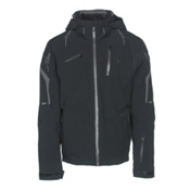 Spyder Monterosa Mens Insulated Ski Jacket, Black-Red-Polar, medium