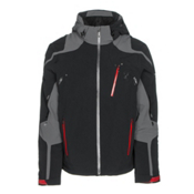 Spyder Bromont Mens Insulated Ski Jacket, Black-Polar-Red, medium