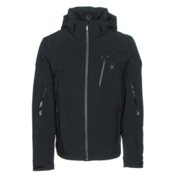 Spyder Bromont Mens Insulated Ski Jacket, Black-Black-Black, medium