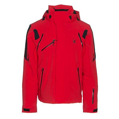 Spyder Garmisch Mens Insulated Ski Jacket, Red-Black-Black, viewer