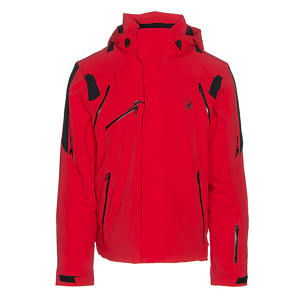 Spyder Garmisch Mens Insulated Ski Jacket, Red-Black-Black, 600