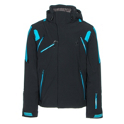 Spyder Garmisch Mens Insulated Ski Jacket, Black-Electric Blue-Electric Blue, medium