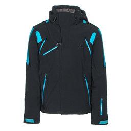 Spyder Garmisch Mens Insulated Ski Jacket, Black-Electric Blue-Electric Blue, 256