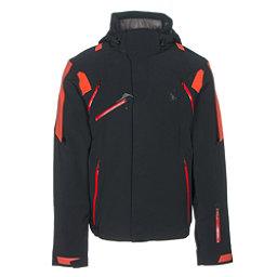 Spyder Garmisch Mens Insulated Ski Jacket, Black-Rage-Red, 256