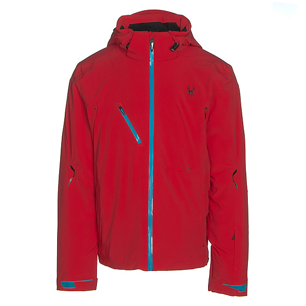 Spyder Alyeska Mens Insulated Ski Jacket, Red-Electric Blue, 600