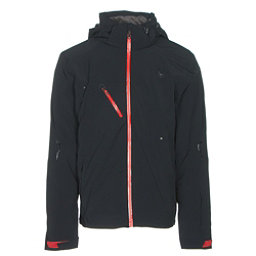 Spyder Alyeska Mens Insulated Ski Jacket, Black-Red, 256
