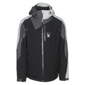 Spyder Vyper Mens Insulated Ski Jacket, Black-Polar Crosshatch-Cirrus, medium
