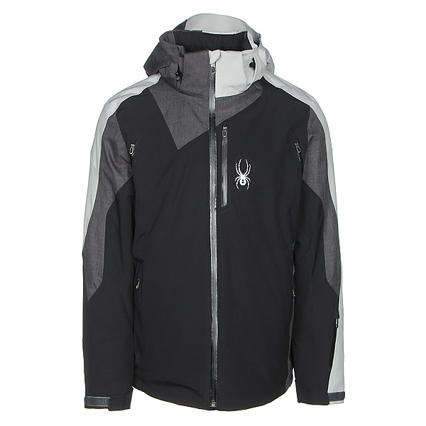 Spyder Vyper Mens Insulated Ski Jacket, Black-Polar Crosshatch-Cirrus, 600