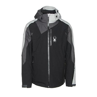 Spyder Vyper Mens Insulated Ski Jacket, Black-Polar Crosshatch-Cirrus, viewer